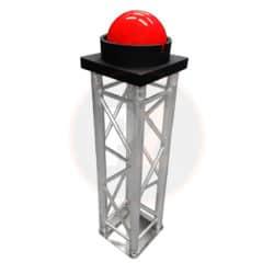 Grote rode knop huren voor opening onthulling
