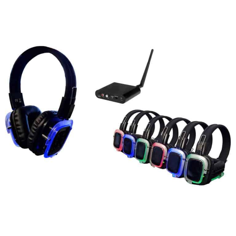 Silent Disco - 25 koptelefoons met 1 zender