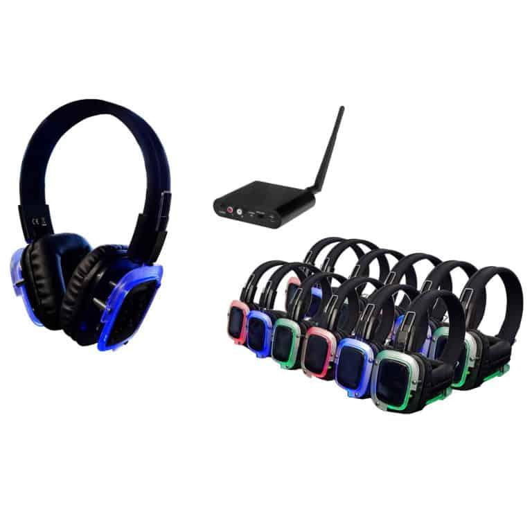 Silent Disco - 50 koptelefoons met 1 zender
